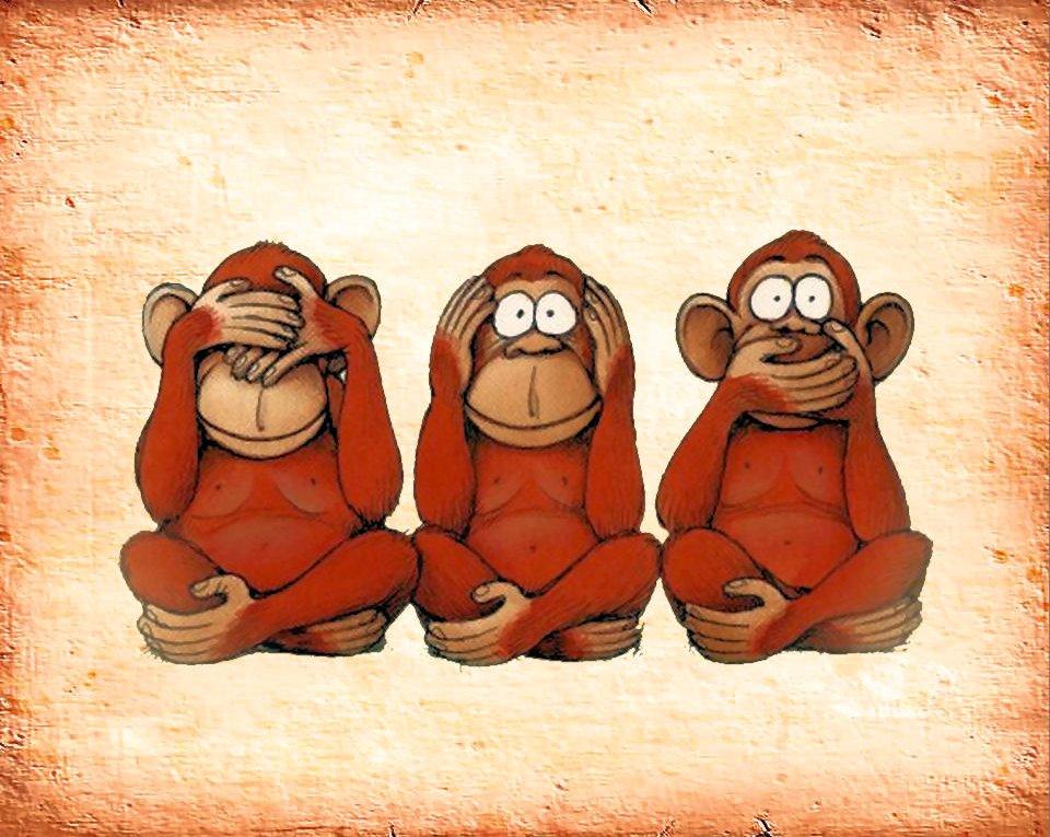 Die drei Affen und das Böse – ThinkDeeper
